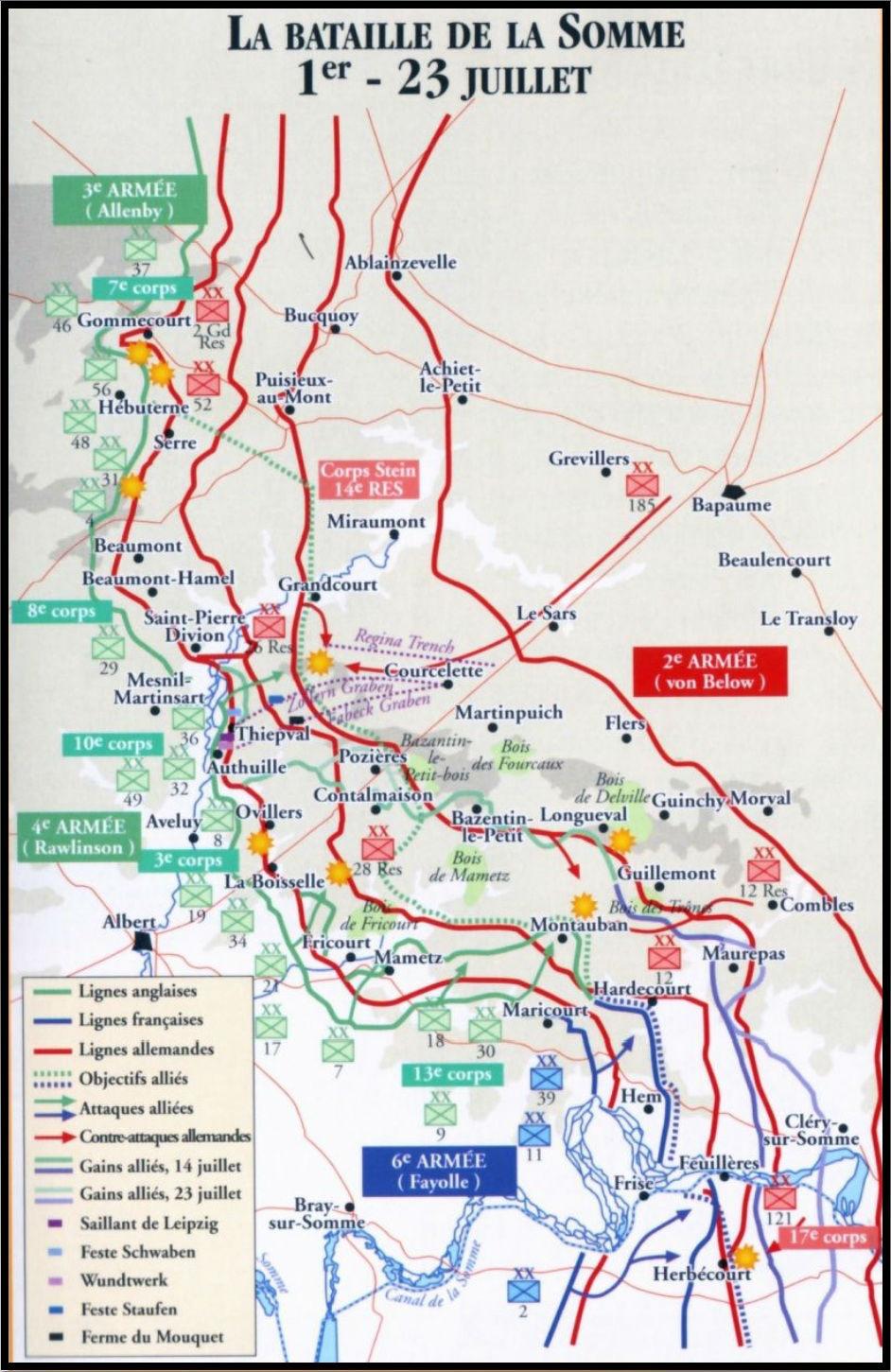 Bataille de la Somme - Juillet 1916